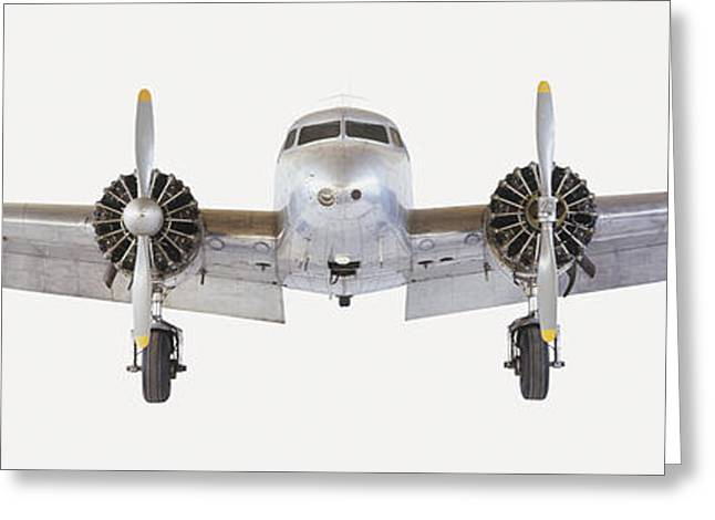 Model Of A Lockheed Electra Greeting Card by Steve Gorton / Dorling Kindersley / Science Museum, Wroughton