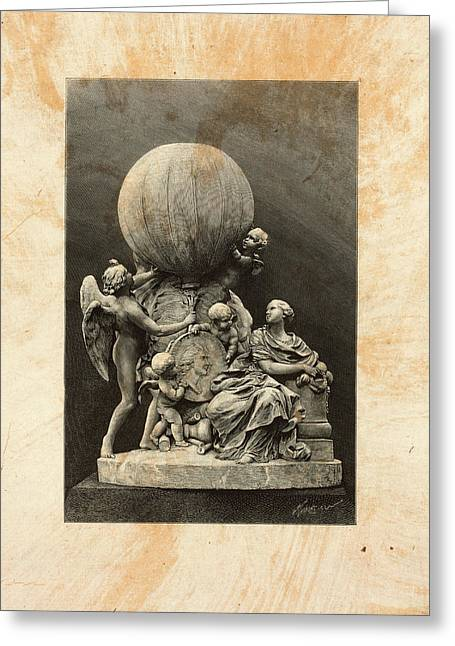 Model Of A Statue Dedicated To French Balloonists Greeting Card by Litz Collection