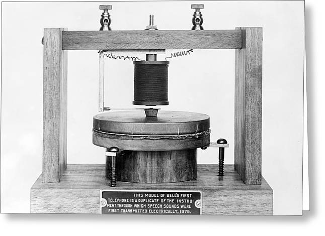 Model of bells telephone of 1875 photograph by library of congress model of bells telephone of 1875 greeting card by library of congressscience photo library m4hsunfo