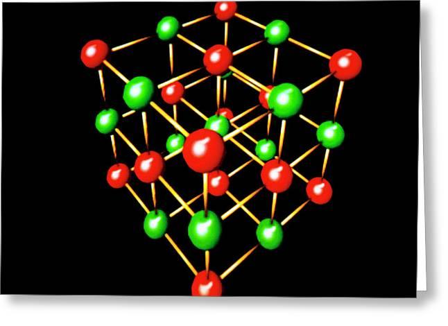 Model Of Sodium Chloride Crystal Lattice Greeting Card