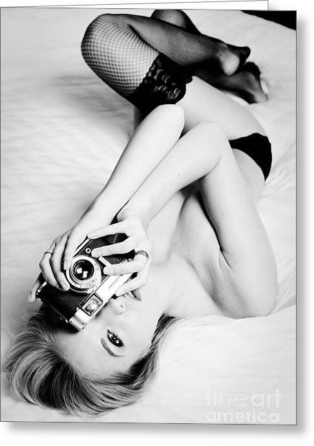 Model Photographer Greeting Card by Jt PhotoDesign