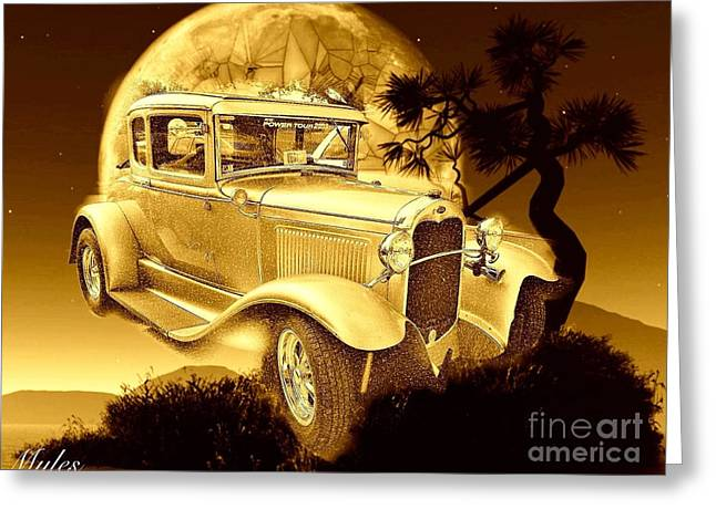 Model T Fantasy  Greeting Card by Saundra Myles
