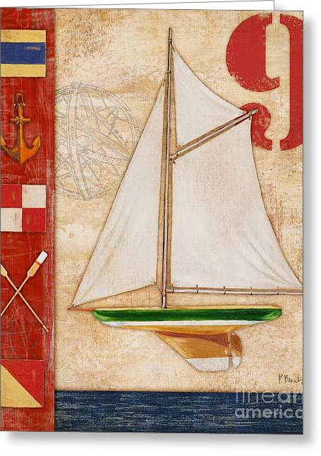 Model Yacht Collage I Greeting Card by Paul Brent