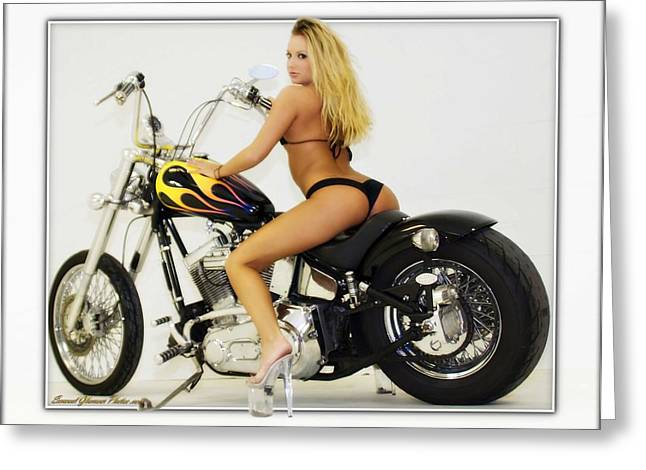 Models And Motorcycles_k Greeting Card