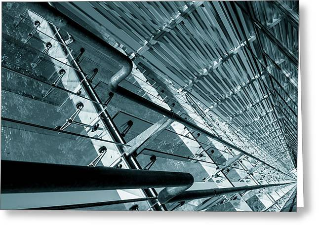 Modern Abstract Architecture Greeting Card by Wladimir Bulgar