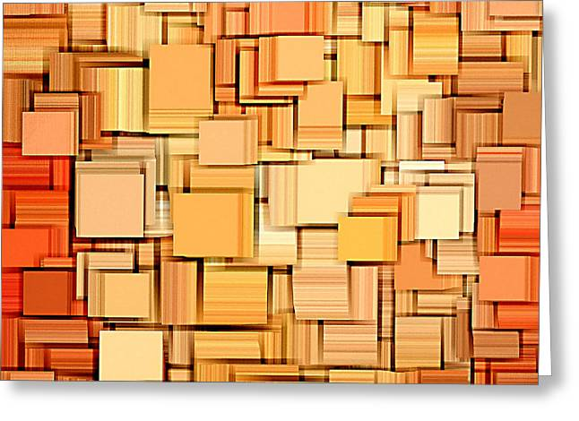Modern Abstract Xvi Greeting Card by Lourry Legarde
