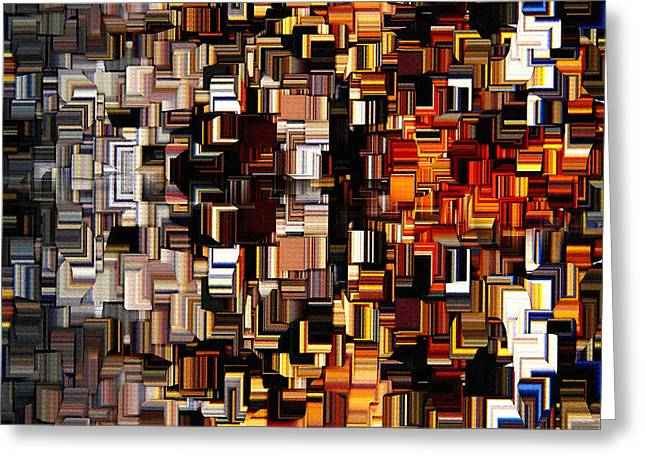 Modern Abstract Xxvii Greeting Card by Lourry Legarde