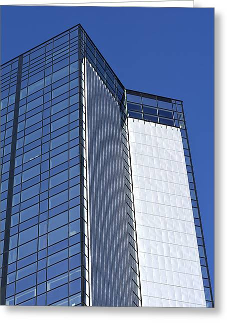 Modern Building In Blue Sky Greeting Card by Tommytechno Sweden