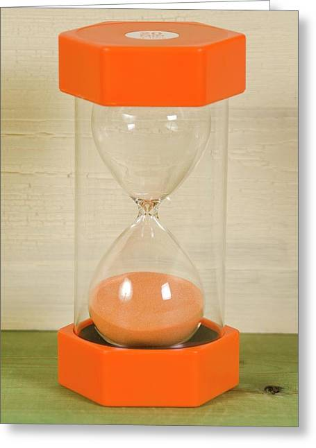 Modern Colorful Hourglass Greeting Card