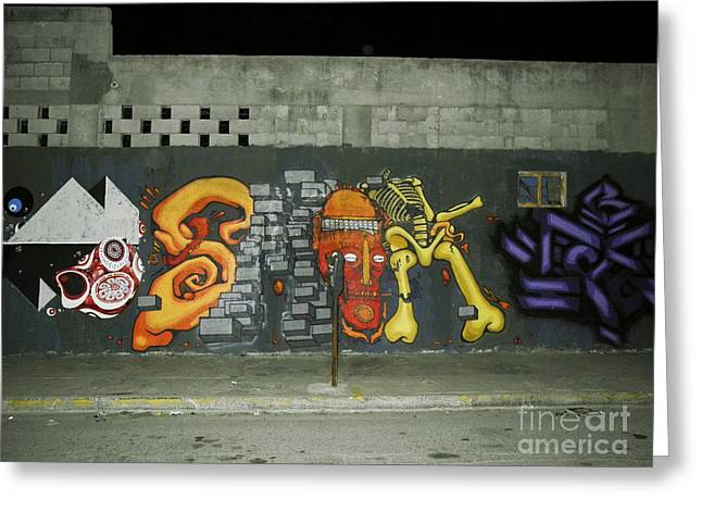 Modern Colorful Street Graffiti Urban Art Photography Greeting Card by Carlos Martinez