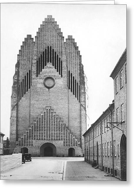 Modern Danish Church Greeting Card by Underwood Archives