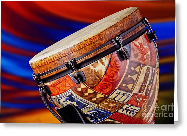 Modern Djembe African Drum Photograph In Color 3336.02 Greeting Card