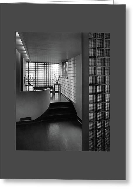 Modern Hallway Greeting Card by Hedrich-Blessing