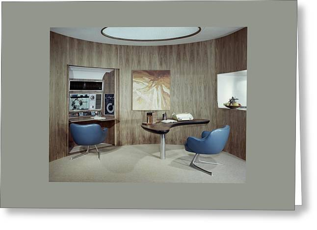 Modern Home Office Greeting Card by Wiliam Grigsby