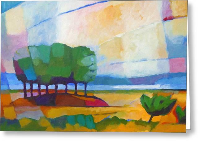 Modern Landscape Greeting Card by Lutz Baar