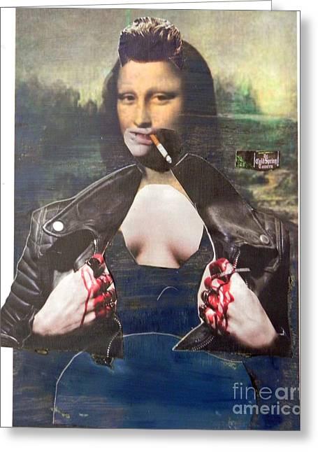 Modern Mona Greeting Card