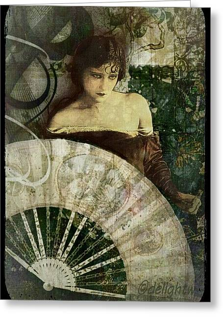 Greeting Card featuring the digital art Modesty by Delight Worthyn