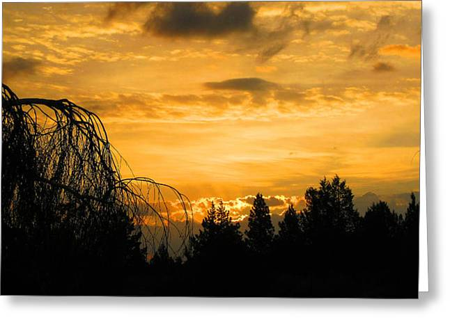 Greeting Card featuring the photograph Modoc Sunrise by Jennifer Muller