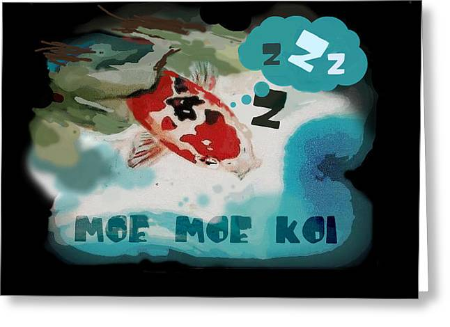 Moe Moe Koi Greeting Card by Wendy Wiese