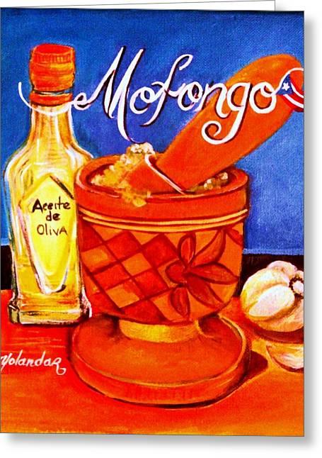 Mofongo En El Pilon  Greeting Card