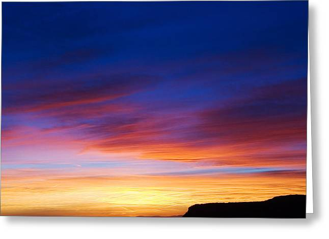 Mogollon Rim Afterglow Greeting Card