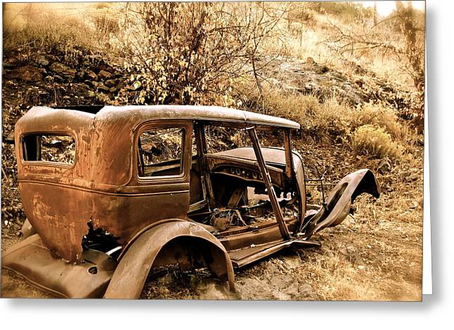 Mogollon Truck Greeting Card by Kim Pippinger