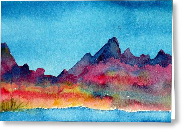 Mohave Mountains Greeting Card