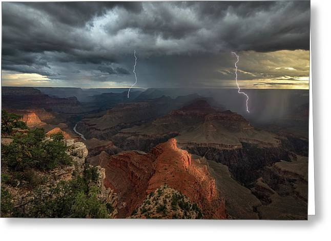 Mohave Point Thunderstorm Greeting Card