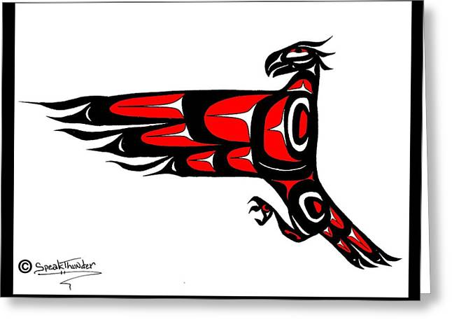 Mohawk Eagle Red Greeting Card
