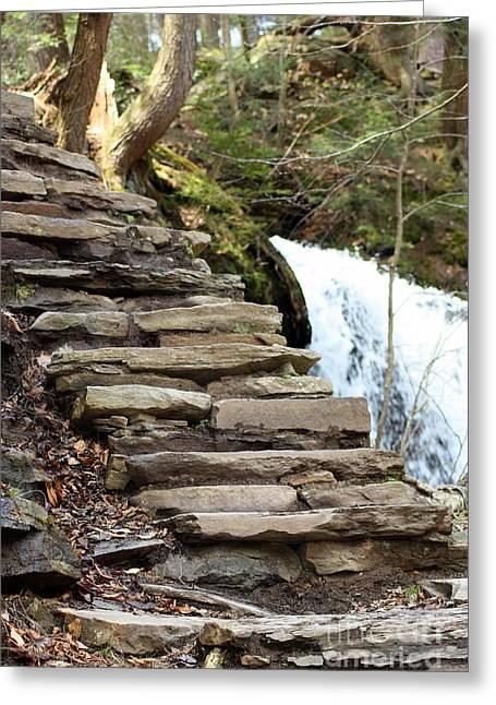 Mohawk Falls Steps Greeting Card