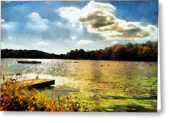 Mohegan Lake Gold Greeting Card
