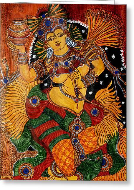 Mohini Greeting Card by Saranya Haridasan
