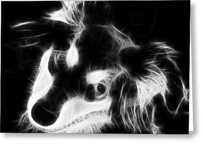 Moja - Black And White Greeting Card by Marlene Watson