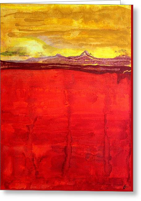 Mojave Dawn Original Painting Greeting Card