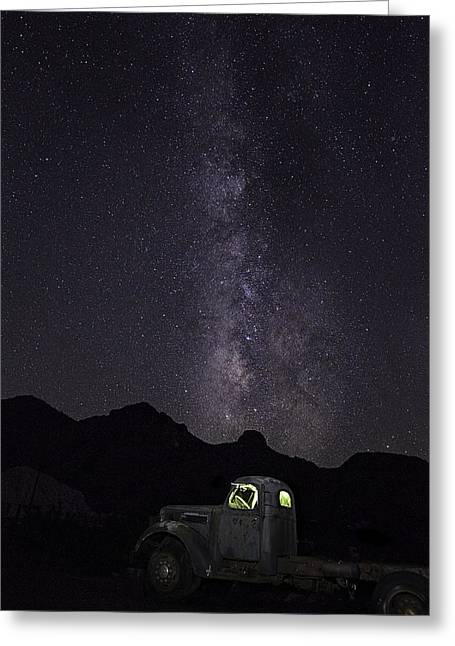 Mojave Milky Way Greeting Card