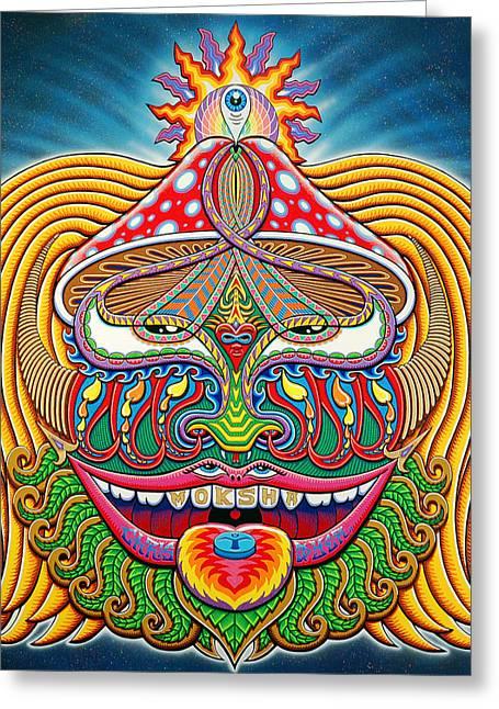 Moksha Master Greeting Card by Chris Dyer
