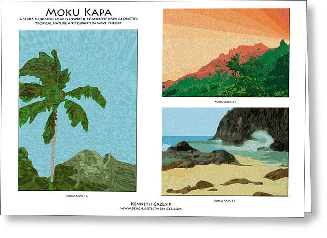 Moku Kapa Poster Greeting Card by Kenneth Grzesik