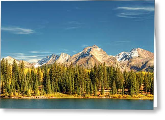 Molas Lake And The Needle Range Pan 2 Greeting Card by Ken Smith