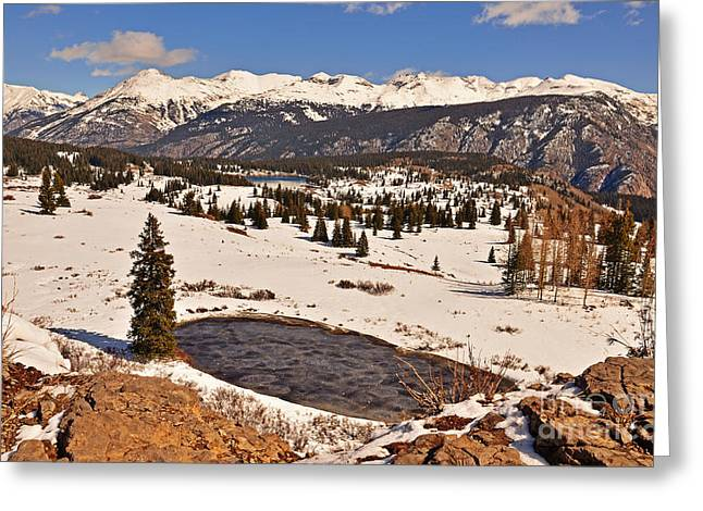 Molas Pass Winter Greeting Card