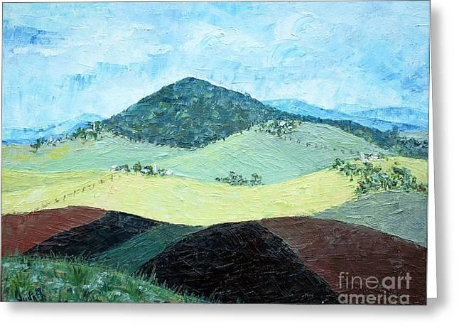 Mole Hill - Sold Greeting Card by Judith Espinoza