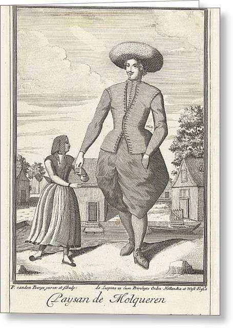 Molkwerum The Netherlands, Farmer, Pieter Van Den Berge Greeting Card by Pieter Van Den Berge