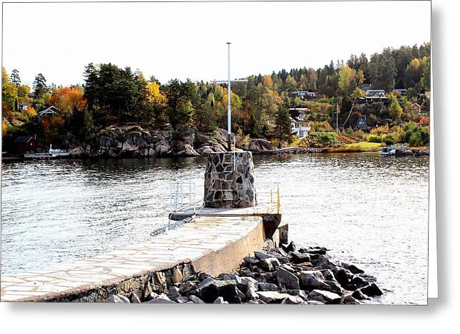 Molo By The Norwegian Fjord Greeting Card