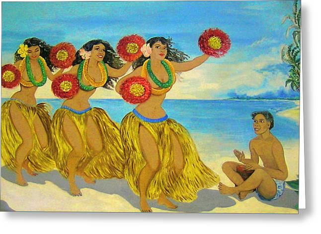Moloka'i Hula 2 Greeting Card