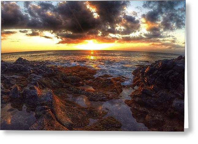 Molokai Sunset Greeting Card