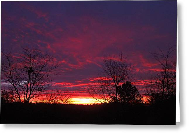 Molten Sunrise Greeting Card by Pete Trenholm