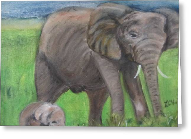 Mom And Baby In Kenya Greeting Card
