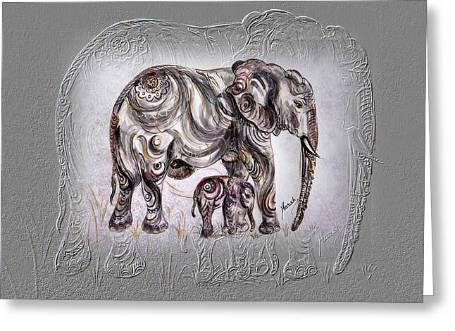 Mom Elephant Greeting Card