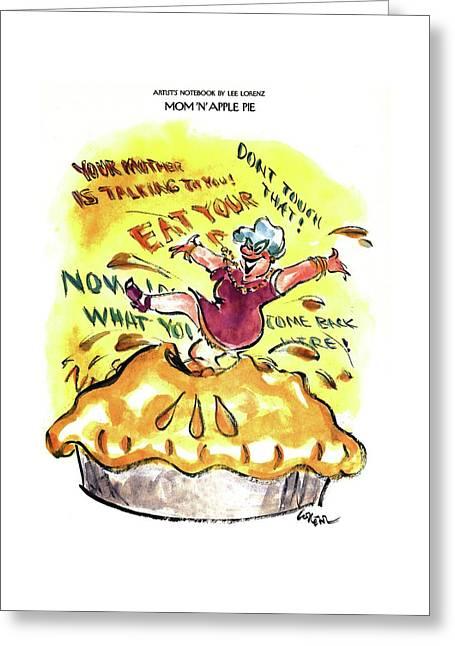 Mom 'n' Apple Pie Greeting Card