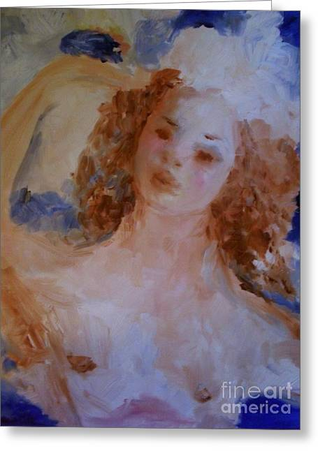 Greeting Card featuring the painting Mom Near Jupiter by Laurie L