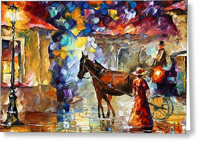 Momentary Stop Greeting Card by Leonid Afremov